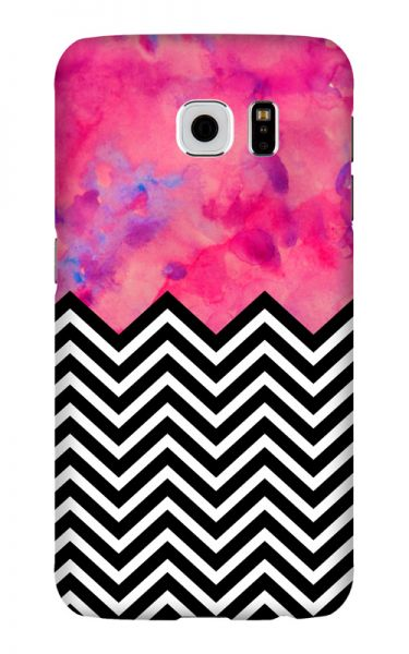 Samsung Galaxy S6 3D-Case (glossy) black and white and PINK von swook! - switch your look