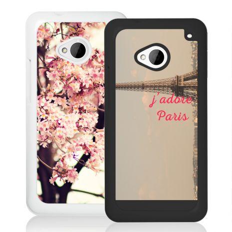 HTC One M7 2D-Case (wei