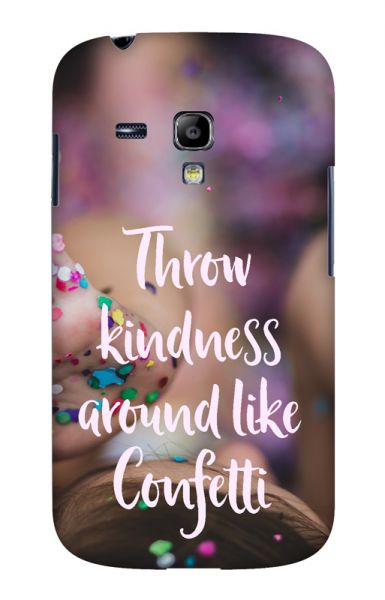 Samsung S3 Mini (i8190) 3D-Case (glossy) Gibilicious Design Throw kindness around von swook! - switch your look