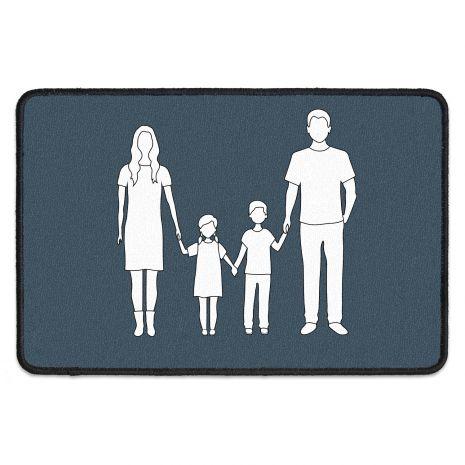 Fussmatte mit Namen - Familie Silhouette