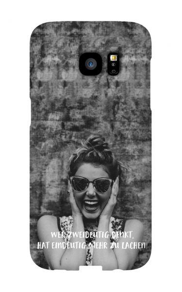 Samsung Galaxy S7 Edge 3D-Case (glossy) Gibilicious Design Wer zweideutig denkt von swook! - switch your look