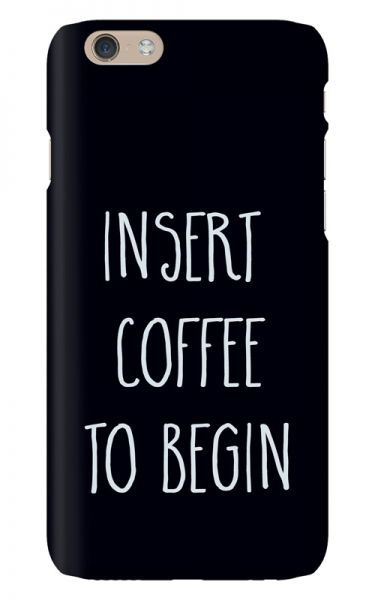 Apple iPhone 6s 3D-Case (glossy) Gibilicious Design Insert coffee to begin von swook! - switch your look
