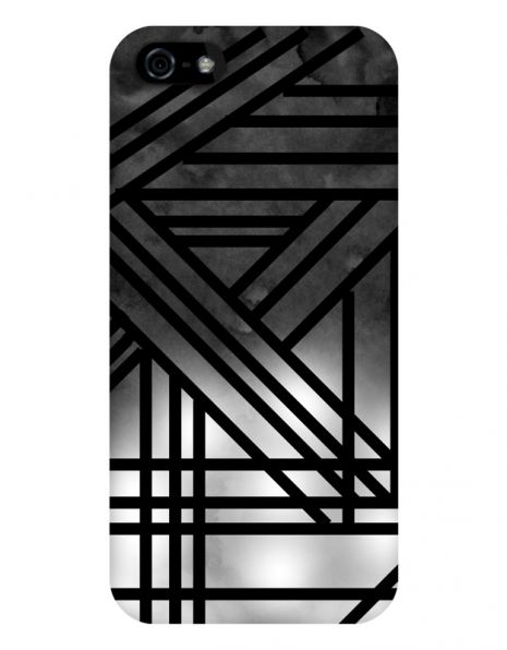 Apple iPhone 5/5S/SE 3D-Case (glossy) Gibilicious Design Grey smoke with black lines von swook! - switch your look