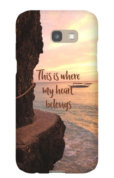 Samsung Galaxy A5 (2017) 3D-Case (glossy) Gibilicious Design Where my heart belongs von swook! - switch your look