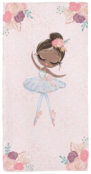 Ballerina 2 - Babyhandtuch mit Namen