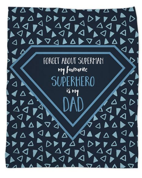 Kuscheldecke Gibilicious Design Superhero Dad von swook! - switch your look