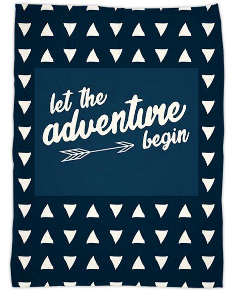 Let the adventure begin - Babydecke mit Namen