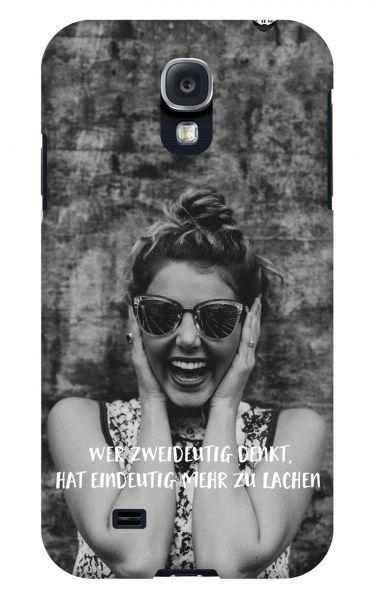 Samsung Galaxy S4 3D-Case (glossy) Gibilicious Design Wer zweideutig denkt von swook! - switch your look