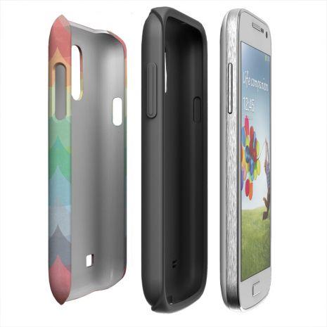 Tough-Case (glossy) passend für Samsung Galaxy S4 Mini, Selbst gestalten