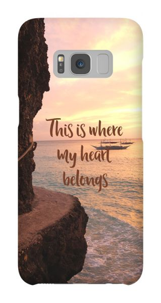 Samsung Galaxy S8  3D-Case (glossy) Gibilicious Design Where my heart belongs von swook! - switch your look