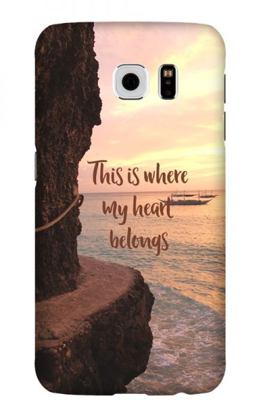 Samsung Galaxy S6 3D-Case (glossy) Gibilicious Design Where my heart belongs von swook! - switch your look