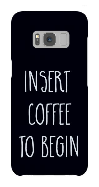 Samsung Galaxy S8  3D-Case (glossy) Gibilicious Design Insert coffee to begin von swook! - switch your look