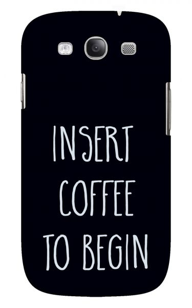 Samsung Galaxy S3 (i9300) 3D-Case (glossy) Gibilicious Design Insert coffee to begin von swook! - switch your look