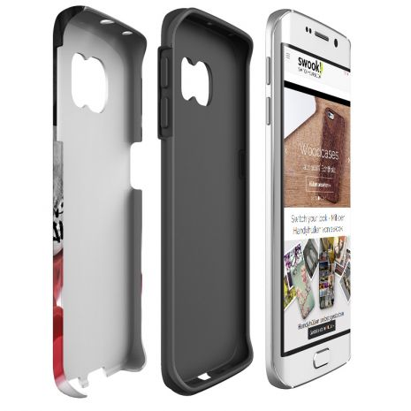 Tough-Case (glossy) passend für Samsung Galaxy S7 Edge, Selbst gestalten