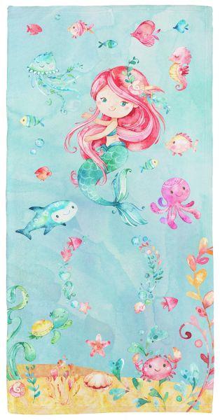 Meerjungfrau - Babyhandtuch mit Namen