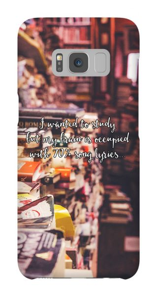 Samsung Galaxy S8  3D-Case (glossy) Gibilicious Design I wanted to study von swook! - switch your look