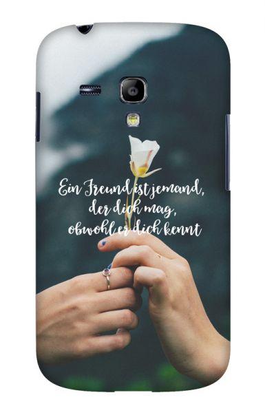 Samsung S3 Mini (i8190) 3D-Case (glossy) Gibilicious Design Ein Freund ist jemand von swook! - switch your look