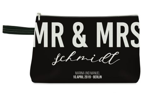 Mr & Mrs - Kulturbeutel mit Namen