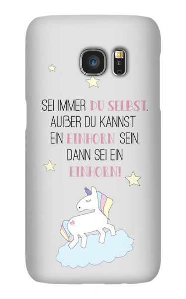 Samsung Galaxy S7 3D-Case (glossy) Always be a unicorn von swook! - switch your look