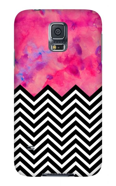 Samsung Galaxy S5 3D-Case (glossy) black and white and PINK von swook! - switch your look