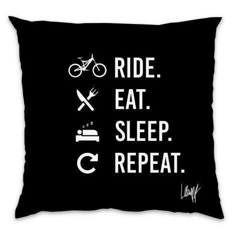 Kissen - Ride Eat Sleep Repeat (black)