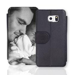 Sideflip-Case (schwarz) passend für Samsung Galaxy S5, Selbst gestalten