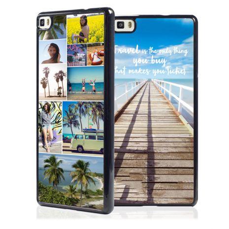Huawei P8 2D-Case (schwarz) selbst gestalten mit swook! - switch your look