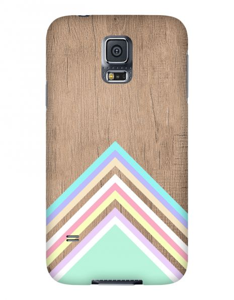 Samsung Galaxy S5 3D-Case (glossy) Gibilicious Design Baby blue pattern on wood von swook! - switch your look
