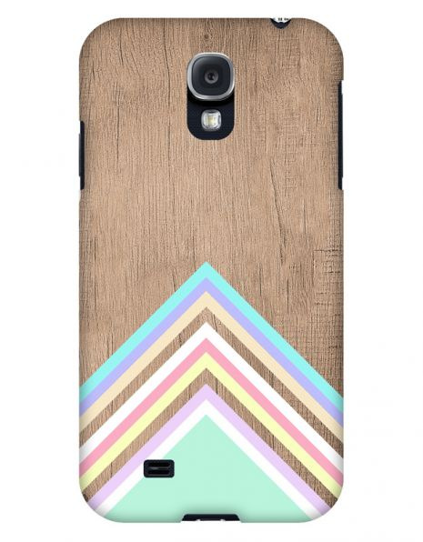 Samsung Galaxy S4 3D-Case (glossy) Gibilicious Design Baby blue pattern on wood von swook! - switch your look