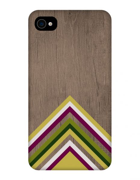 Apple iPhone 4/4s 3D-Case (glossy) Gibilicious Design Yellow pattern wood von swook! - switch your look