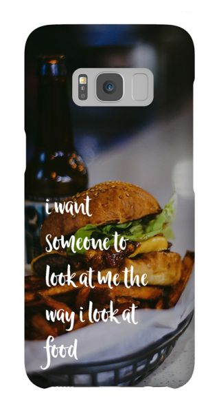 Samsung Galaxy S8  3D-Case (glossy) Gibilicious Design The way I look at food von swook! - switch your look