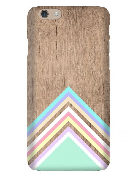 Apple iPhone 6 3D-Case (glossy) Gibilicious Design Baby blue pattern on wood von swook! - switch your look