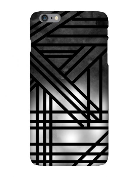 Apple iPhone 6 Plus 3D-Case (glossy) Gibilicious Design Grey smoke with black lines von swook! - switch your look