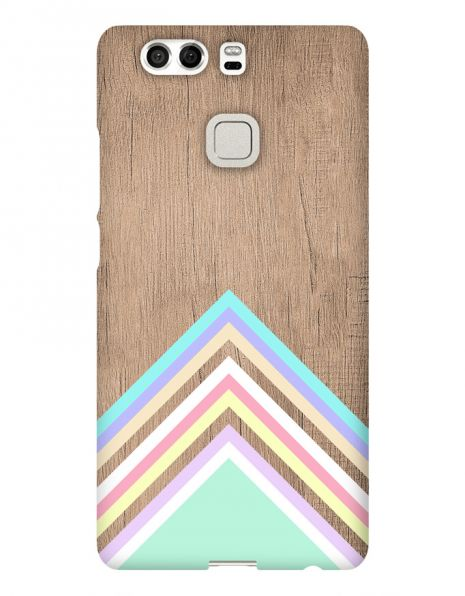 Huawei P9 3D-Case (glossy) Gibilicious Design Baby blue pattern on wood von swook! - switch your look