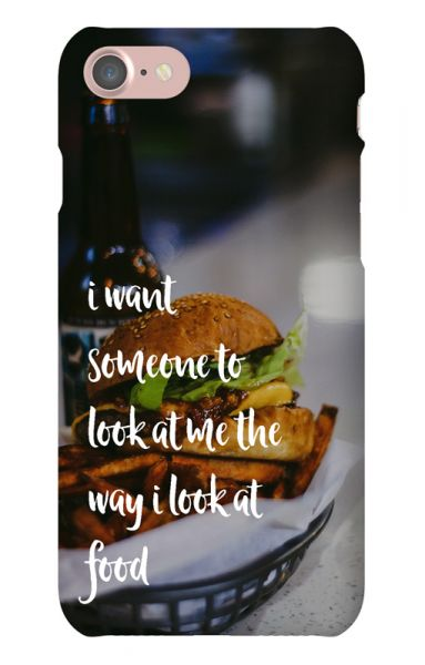 Apple iPhone 7 3D-Case (glossy) Gibilicious Design The way I look at food von swook! - switch your look
