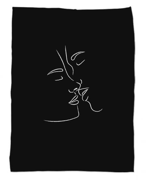 Sanctuary - schwarz - Kuscheldecke mit Namen
