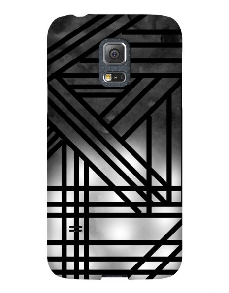 Samsung Galaxy S5 Mini 3D-Case (glossy) Gibilicious Design Grey smoke with black lines von swook! - switch your look