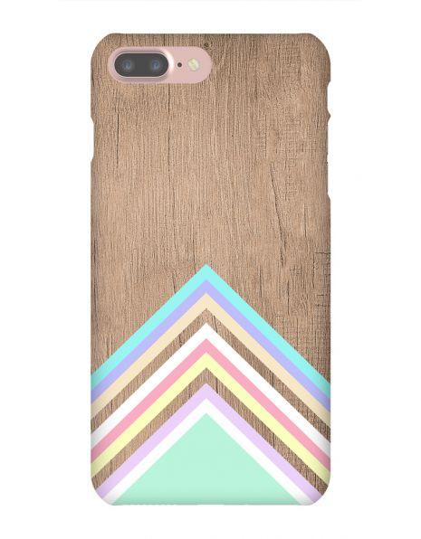 Apple iPhone 7 Plus 3D-Case (glossy) Gibilicious Design Baby blue pattern on wood von swook! - switch your look