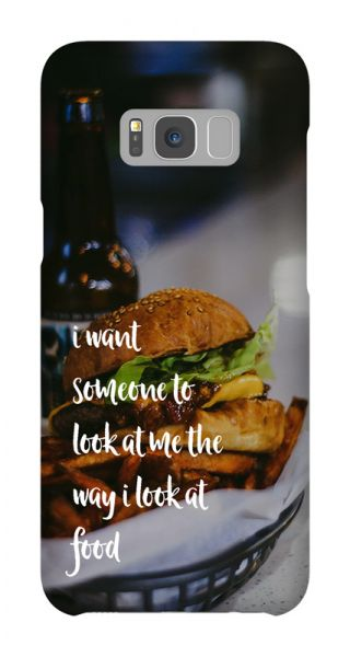 Samsung Galaxy S8 Plus 3D-Case (glossy) Gibilicious Design The way I look at food von swook! - switch your look
