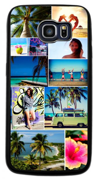 Bumper-Case (schwarz) passend für Samsung Galaxy S6 Edge, Selbst gestalten