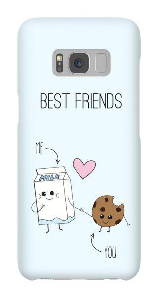 Samsung Galaxy S8  3D-Case (glossy) Gibilicious Design BFF - Best friends - Cookies & Milk von swook! - switch your look