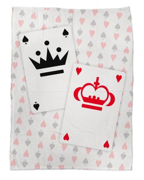 King and Queen - Kuscheldecke mit Namen