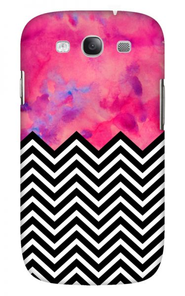 Samsung Galaxy S3 (i9300) 3D-Case (glossy) black and white and PINK von swook! - switch your look