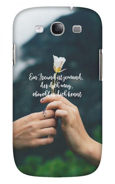 Samsung Galaxy S3 (i9300) 3D-Case (glossy) Gibilicious Design Ein Freund ist jemand von swook! - switch your look
