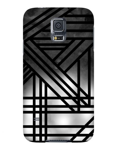 Samsung Galaxy S5 3D-Case (glossy) Gibilicious Design Grey smoke with black lines von swook! - switch your look