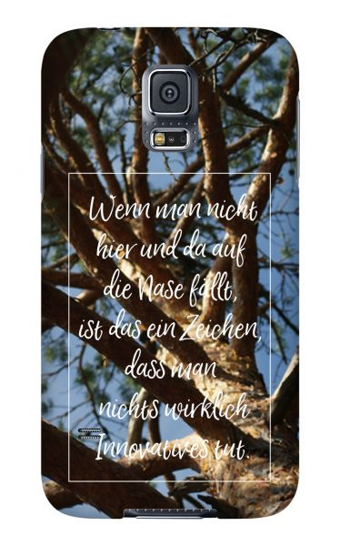 Samsung Galaxy S5 3D-Case (glossy) Gibilicious Design Auf Nase fallen von swook! - switch your look