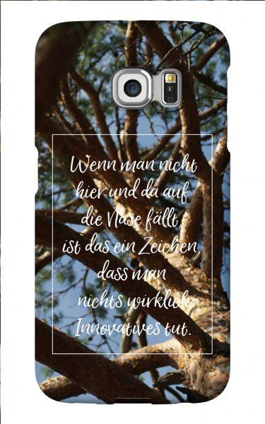 Samsung Galaxy S6 Edge 3D-Case (glossy) Gibilicious Design Auf Nase fallen von swook! - switch your look