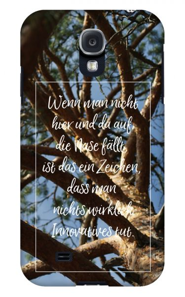 Samsung Galaxy S4 3D-Case (glossy) Gibilicious Design Auf Nase fallen von swook! - switch your look