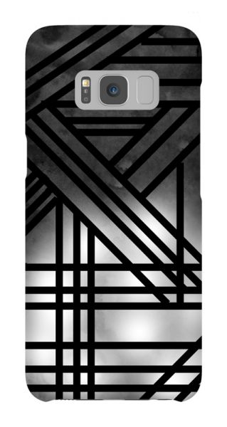 Samsung Galaxy S8  3D-Case (glossy) Gibilicious Design Grey smoke with black lines von swook! - switch your look