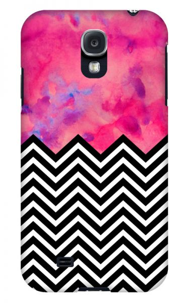 Samsung Galaxy S4 3D-Case (glossy) black and white and PINK von swook! - switch your look